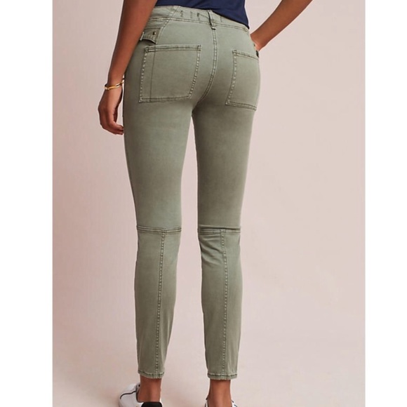 769cd27bc43 Anthropologie Pants - Anthropologie Hei Hei Slim Utility Cargo Olive 25P